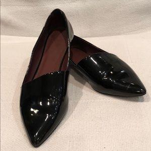 Zara Trafaulc patent leather flats size 39/8